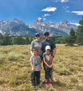 Brian enjoying the mountains with his family